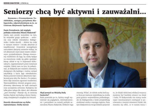 """Najnowszy numer """"Podlaskiego Seniora"""""""