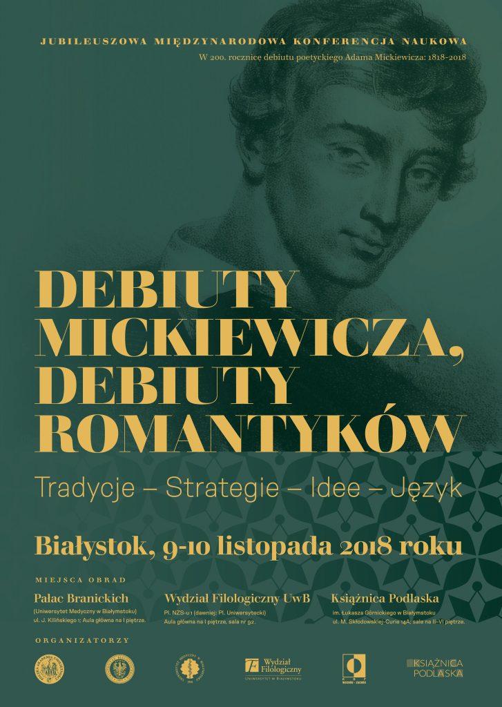 Debiuty Mickiewicza, debiuty romantyków