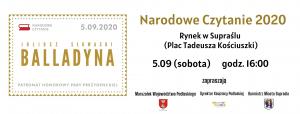 Plakat Narodowego Czytania 2020